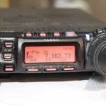 und auf dem Yaesu FT-857 war das Signal eindeutig zu hören