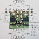 fertig aufgebaute Quarzfilterplatine mit 500 Hz und 2,7khz Bandbreite