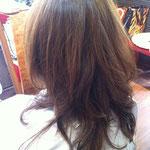 ロングヘアー レイヤー 巻き髪
