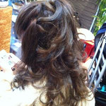 ロングヘアー 巻き髪