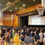 薬物乱用防止教室@太子堂小学校体育館全景