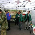 三宿自衛隊中央病院での献血活動