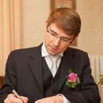 """das erste mal mit """"Oster"""" unterschreiben für Björn"""
