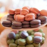 .... sowie Macarons - süße französische Mandelbaiser-Köstlichkeiten