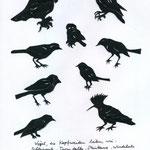 opfweidenliebende Vögel