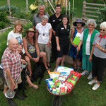 Recieving the Tui 'Community Garden of the year' prize. 2011