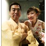 津軽三味線奏者;金澤先生と