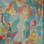 Die Geliebte des Musiker, 1991, 100x70cm