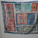 Schaltplan des Lebens I oder II, 2014, Foulard