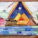 Fragen im gelobten Land, 1990, 21x28cm