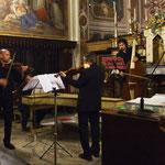Alberto Asero, violino, Matteo Pasqualini, clavicembalo, Simone Baroni, violino, Matteo Cicchitti, violone