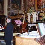 Simone Baroni, violino, Matteo Cicchitti, violone