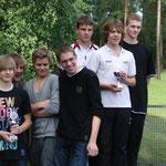 Staffel 2, Platz, Bjarne Rogalski, Florian Lindmüller, Lukas Neuse und Robert Jaksch, v.r.