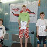 Christian mitte, 1. Platz 100 m Brust