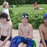 warten auf den Start - Daniel, Julius und Dennis