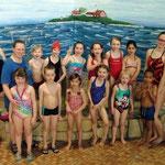 Seepferdchengruppe 1  mit Trainerin Wiltrud, Monika, Alina und Lina