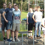 links unsere Staffel v.l. Robert, Julius, Sebastian und Christian