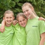 ganz in grün, Vanessa, Lena und Antonia