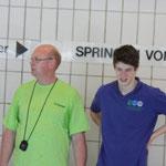 Trainer Dieter und Niklas