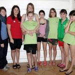 v.l. Nicole, Lena, Saskia, Merle, Rosalie, Lina, Beke und Lisa