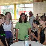 Jana, Saskia, Lena , Rosalie und Lina, v. l.