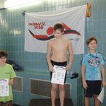 rechts Max, 2. Platz 100 m Brust
