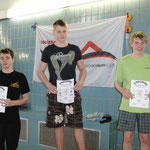Ole, rechts 2. Platz 100 m Brust