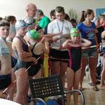 Trainer, Co-Trainer und Schwimmer