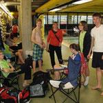 unser Lager........Julius, Christian, Gabi, Beke, Lina und Andre