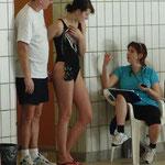 Trainer, Schwimmerin, Trainerin - Wolfgang, Nicole und Birgit