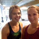 Lina und Janina re, auch aus Deutschland, kann auch schwimmen