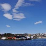 der alte Hurtigrutenkai in Gibostad auf Senja