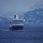 Begegnung mit der MS Nordkapp