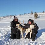 Niels und ich mit Loke und Thea