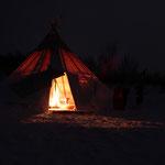 Unser Camp bei Nacht