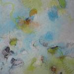 """frühling"", Acryl auf Leinwand, 80 x 80 cm"