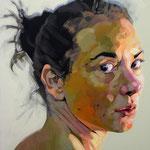The Gaze, 120 x 100 cm, acrylic on canvas