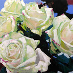 Roses White, 120 x 160 cm, acrylic on canvas