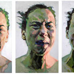 Emotions, Triptych, 150 x 210 cm, acrylic on canvas