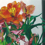 Alstoemeria Aurea, 100 x 230 cm, acrylic on canvas