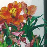 Alstoemeria Aurea, 100 x 230 cm, acrylic on canvas