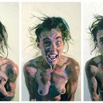 Eruption, Triptych, 150 x 210 cm, acrylic on canvas