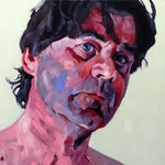 The Actor, 100 x 100 cm, acrylic on canvas
