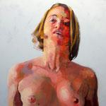 Study, acrylic on canvas, 90 x 50 cm