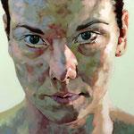 Straight, 100 x 100 cm, acrylic on canvas