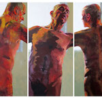 Here We Go Round, Triptych, 3 x 210 x 100 cm, acrylic on canvas