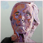 Three Weeks Left (big), 160 x 160 cm, acrylic on canvas