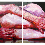 Lento, Diptych, 120 x 320 cm, acrylic on canvas