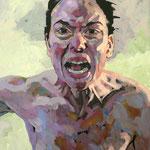 Screaming, 160 x 120 cm, acrylic on canvas