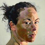 Turning Head, 100 x 120 cm, acrylic on canvas